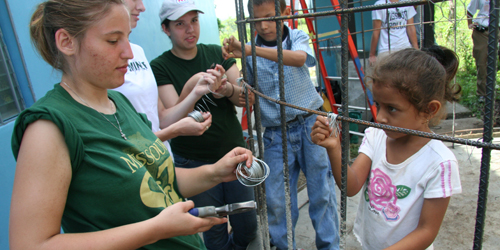 Missouri S&T students construct a water tank.JPG