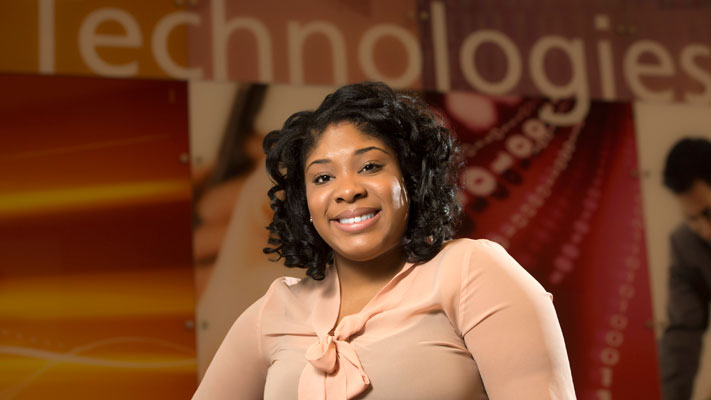 Breenae Washington earned her engineering management degree in 2012. Photo by Tim Parker Photography