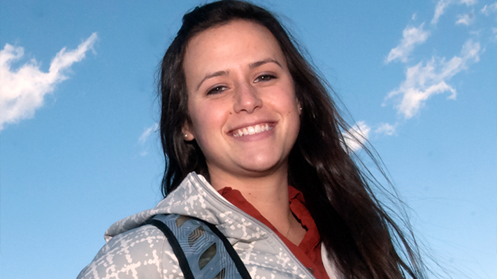 Senior Erica Budler says she has never doubted her choice of a major in engineering management. Photo by B.A. Rupert.
