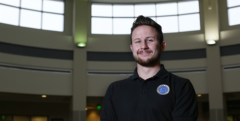 Nuclear engineering senior Dylan Prévost was awarded the Pursuit of Life Scholarship from Team Orion.
