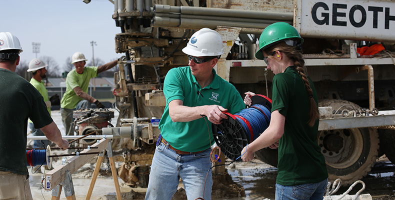 Since installing 144 geothermal wells on campus over the past two years, Dr. Curt Elmore, professor of geological engineering, has led a couple of ongoing geothermal research projects.