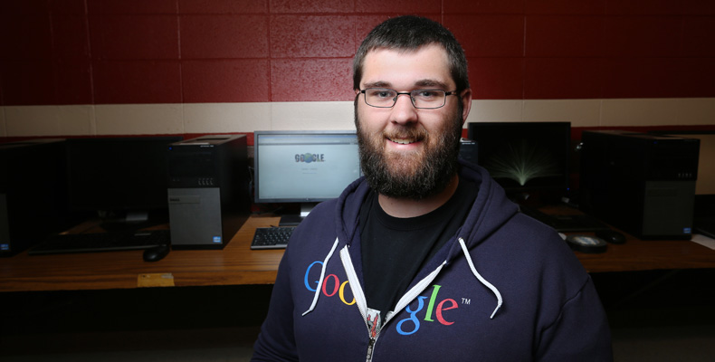 Austin Gantner, who graduates in May, has already secured a job at Google's office in Boulder, Colorado.