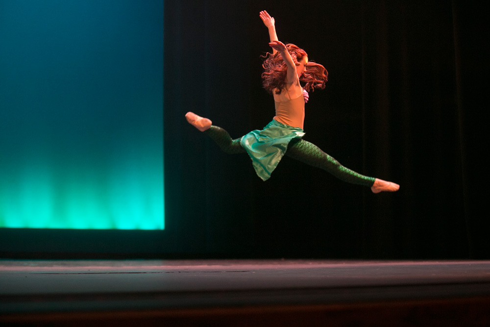 "Tilden performs during a production of ""The Little Mermaid"" by the S&T Ballet and Dance Club."
