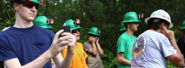 Students participate in explosives camp demolition at S&T's underground mine.