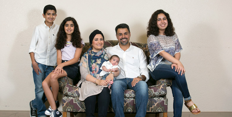 Mohammad AlKazimi and Hanan Altabbakh with their children.              Sam O'Keefe/Missouri S&T