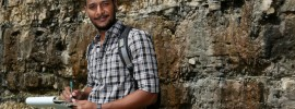 Nathan Bashir, a graduate student in both geology and geophysics, and geological engineering, studies limestone formations, for which he says Missouri, is an ideal location.