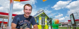 Ryan Priesmeyer, an incoming freshman, owns and operates the Tropical Sno on 10th Street in Rolla. Sam O'Keefe/Missouri S&T