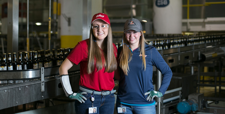 Delaney Sexton and Courtney Mandeville worked together at Anheuser-Busch in St. Louis. Sexton worked in packaging, and Mandeville still works in brewing. Sam O'Keefe/Missouri S&T