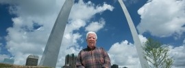 Jack Wright, who earned a bachelor of science degree in civil engineering at Missouri S&T in 1961, worked on surveying and helped ensure quality control throughout the Gateway Arch project, which is celebrating its golden anniversary in October 2015. Sam O'Keefe/Missouri S&T