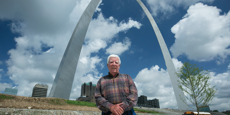 Jack Wright, a 1961 graduate, helped ensure quality control throughout the Gateway Arch project, which is celebrating its golden anniversary. Sam O'Keefe/Missouri S&T