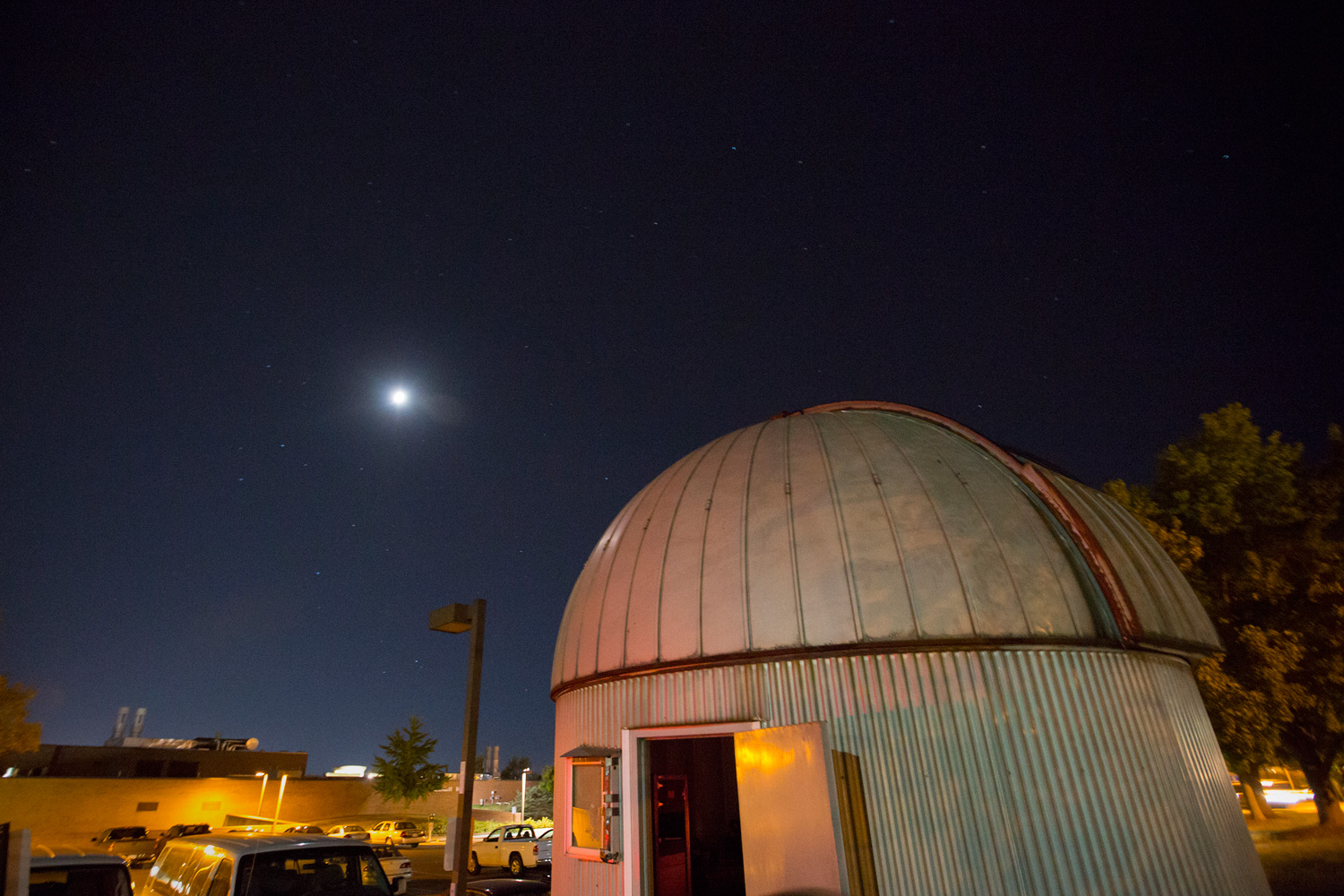 A view of the night sky above the Observatory.