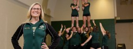 Cheer and dance head coach Erica Long is a 2003 Civil Engineering alumna. Sam O'Keefe/Missouri S&T