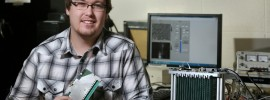 Matt Horst won a spot in the coveted 2015 National Science Foundation (NSF) Graduate Research Fellowship program for his work in developing a 3D real-time wideband microwave camera that can produce 3D images. Sam O'Keefe/Missouri S&T