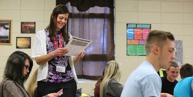 Christina King teaches math at Owensville High School